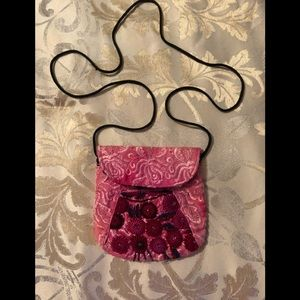 Handbags - NWOT Beautiful embroidery mini purse 👛